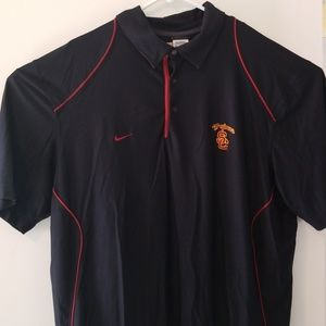 Nike USC Trojans dri fit Embroidered Polo XXL Ncaa